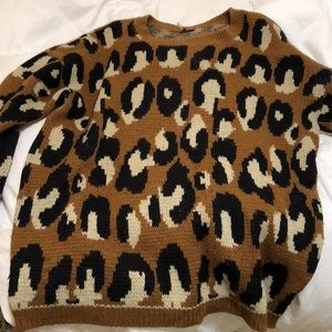 Urban outfitters leopard sweater